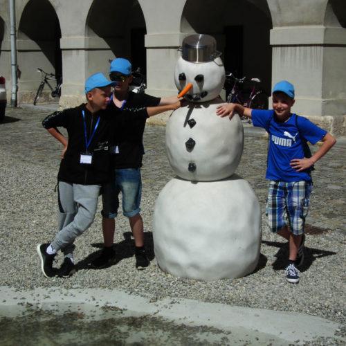 Schneemann aus Laaser Marmor